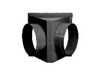 Адаптер на два выхода для крепления рукава O450 мм для теплогенераторов Ballu-Biemmedue JUMBO 115 02AC552