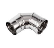 Колено дымохода 90 гр из нержавеющей стали (Диаметр 200 мм) для теплогенераторов Ballu-Biemmedue 02AC290